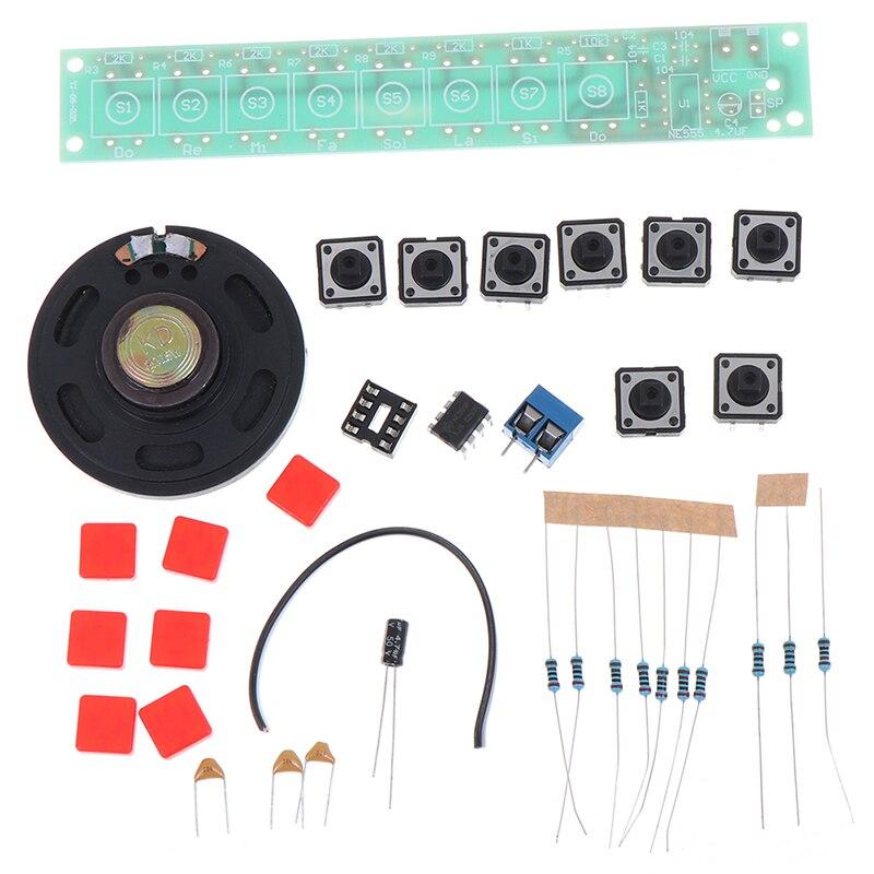 1 Set DIY Kit NE555 Component Electronics Piano Organ Module Battery Box Tool Accessories