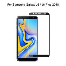 Для samsung galaxy j6 / plus 2018 Полное покрытие экрана защитное