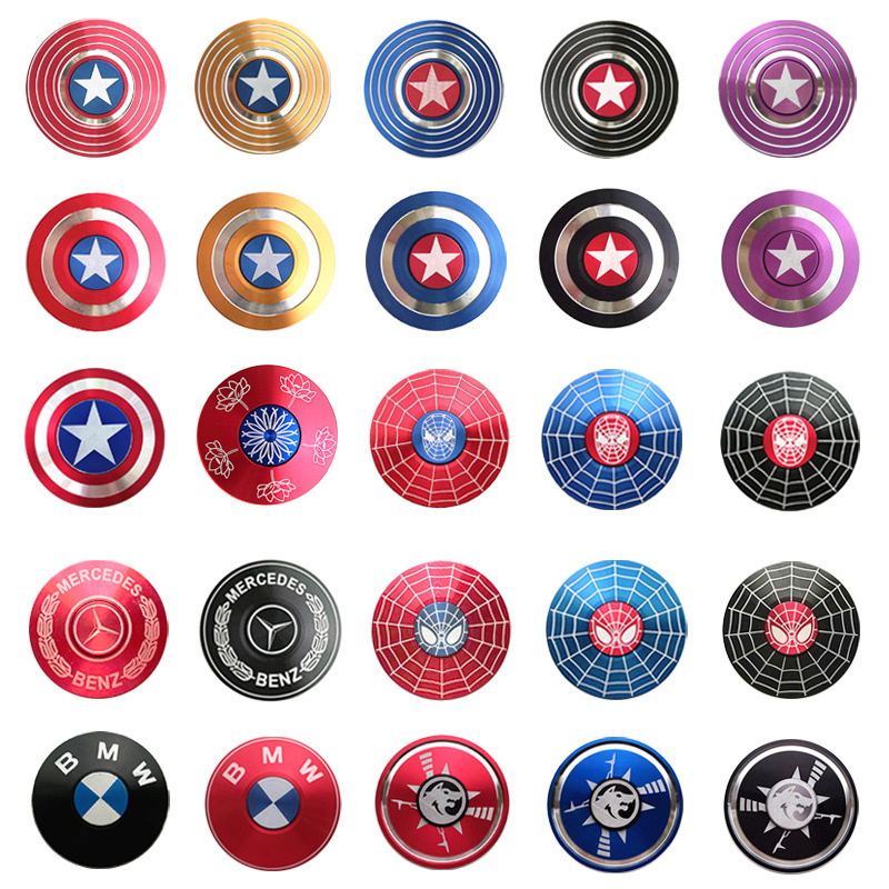 Zinc Alloy Colorful Fidget Spinner Anti-Anxiety Hand Spinners Toy For Spinners Relieves Stress Rotation Aluminum Alloy Gyro