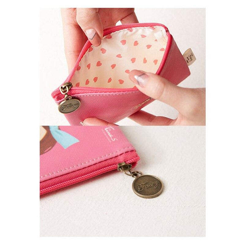 South Korea Fascy Fat Greek Tina Cute Wallet Fashion Mini Bag Zip Coin Purse Cosmetic Bag