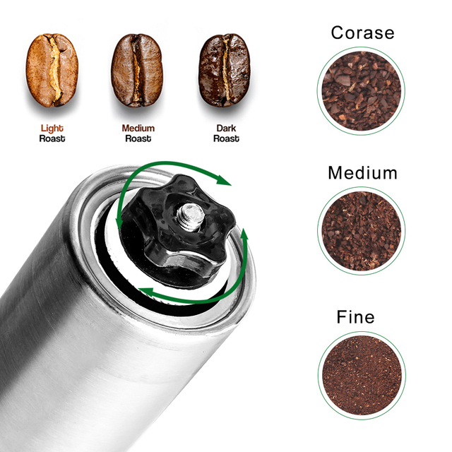 Silver Hand Held Conical Burr Coffee Grinder 3