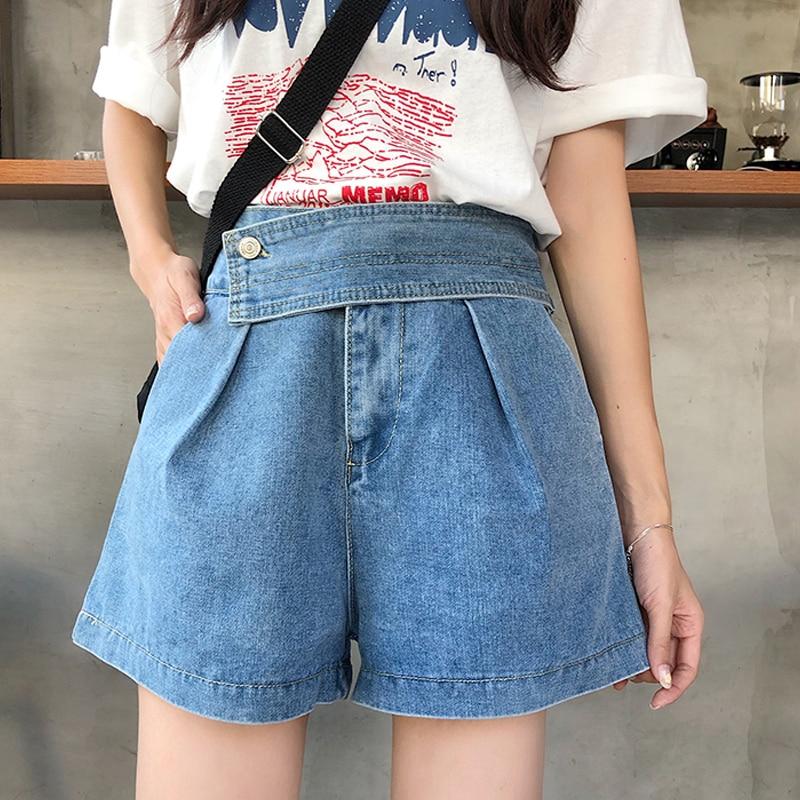 Jean Shorts Summer New Korean Fashion High Waist Shorts Loose Casual Denim Shorts Women