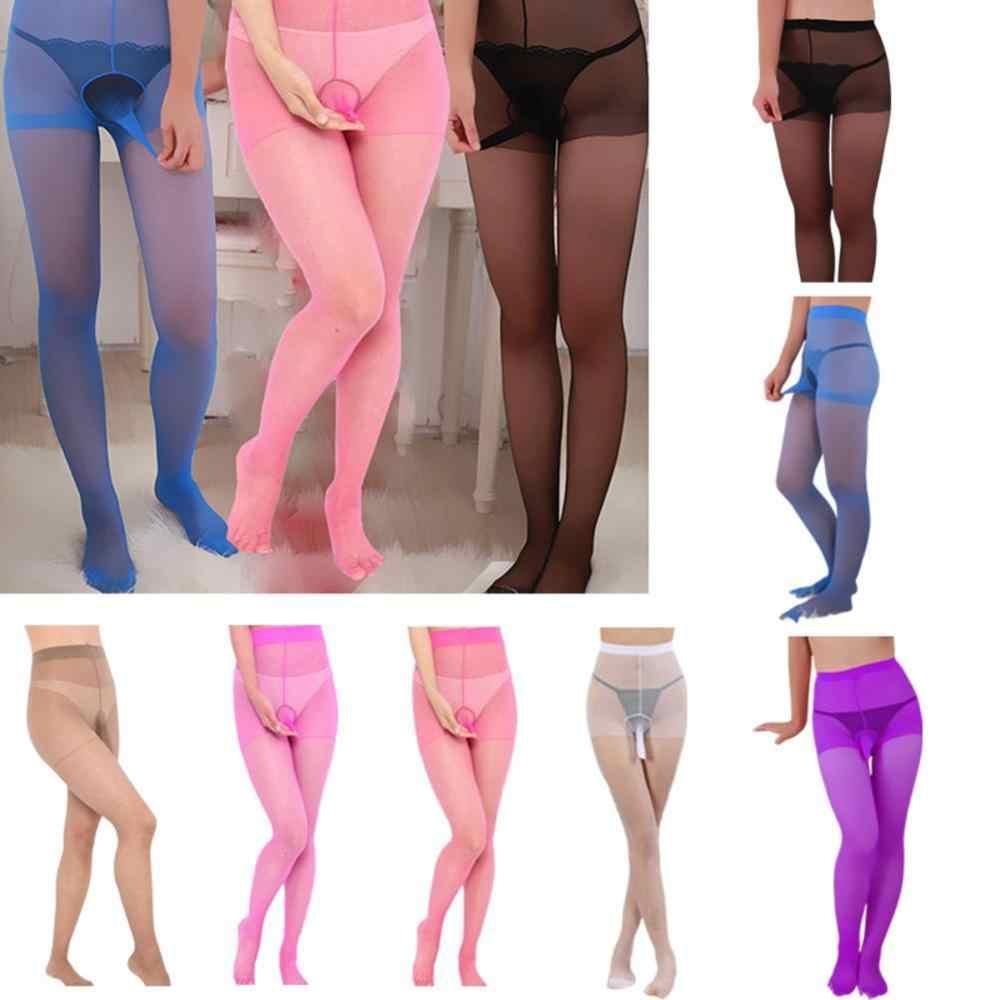 באיכות גבוהה פין פאוץ נדן תחתונים חם סקסי אופנה Mens גרביונים לגברים 4 צבעים חדש גרבי משי גרביונים נוח