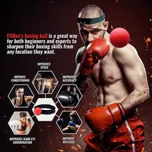 Balle réflexe de combat, balle de combat, balle de vitesse pour la boxe, entraînement, gymnastique, Coordination avec bandeau, amélioration de la réaction
