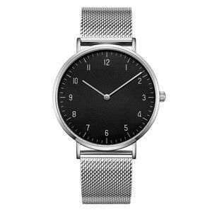 Минималистичные мужские часы 2019, роскошные брендовые наручные часы, водонепроницаемые повседневные мужские сетчатые часы из нержавеющей с...