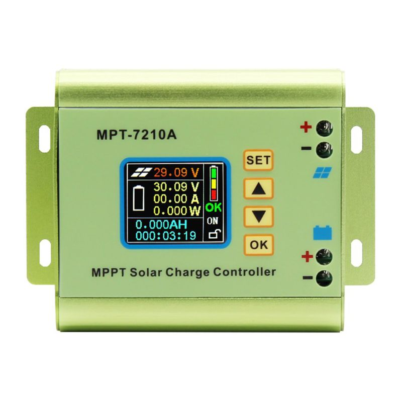 LCD Display MPPT Solar Charge Controller for Lithium Battery 24V / 36V / 48V / 60V / 72V Battery Pack Output 0-10A MPT-7210A