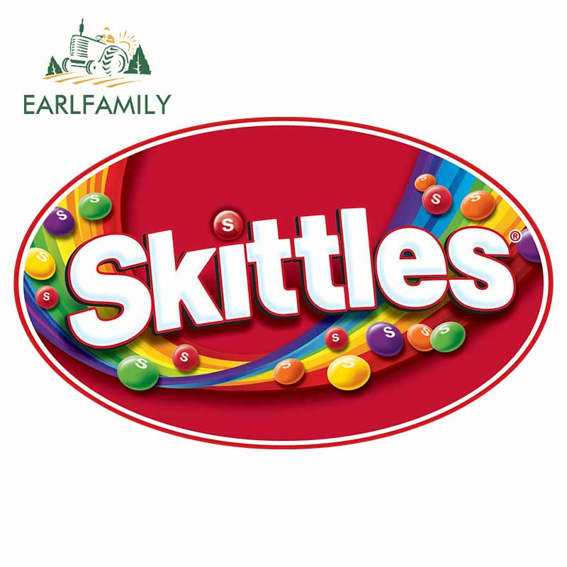 EARLFAMILY 13cm X 8cm For Skittles Vinyl Material Car Stickers Car Accessories Decal Motorcycle Waterproof Occlusion Scratch