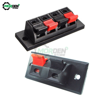 2 Way/ 4 Way Spring Push Release Connector Speaker Terminal Strip Block for Home Audio image