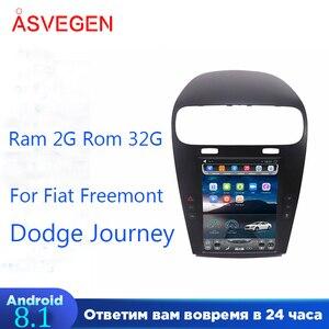 Автомобильный мультимедийный плеер Fiat freeont Dodge Journey, Android 8,1, 2 Гб, 32 ГБ, с GPS-навигацией, мультимедиа, Wi-Fi плеер