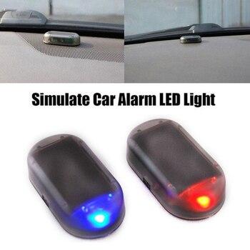 1 Pc Universal Car Fake Solar Power Alarm Lamp Security System Warning Theft Flash Blinking Anti-Theft Caution Alarm LED Light 1
