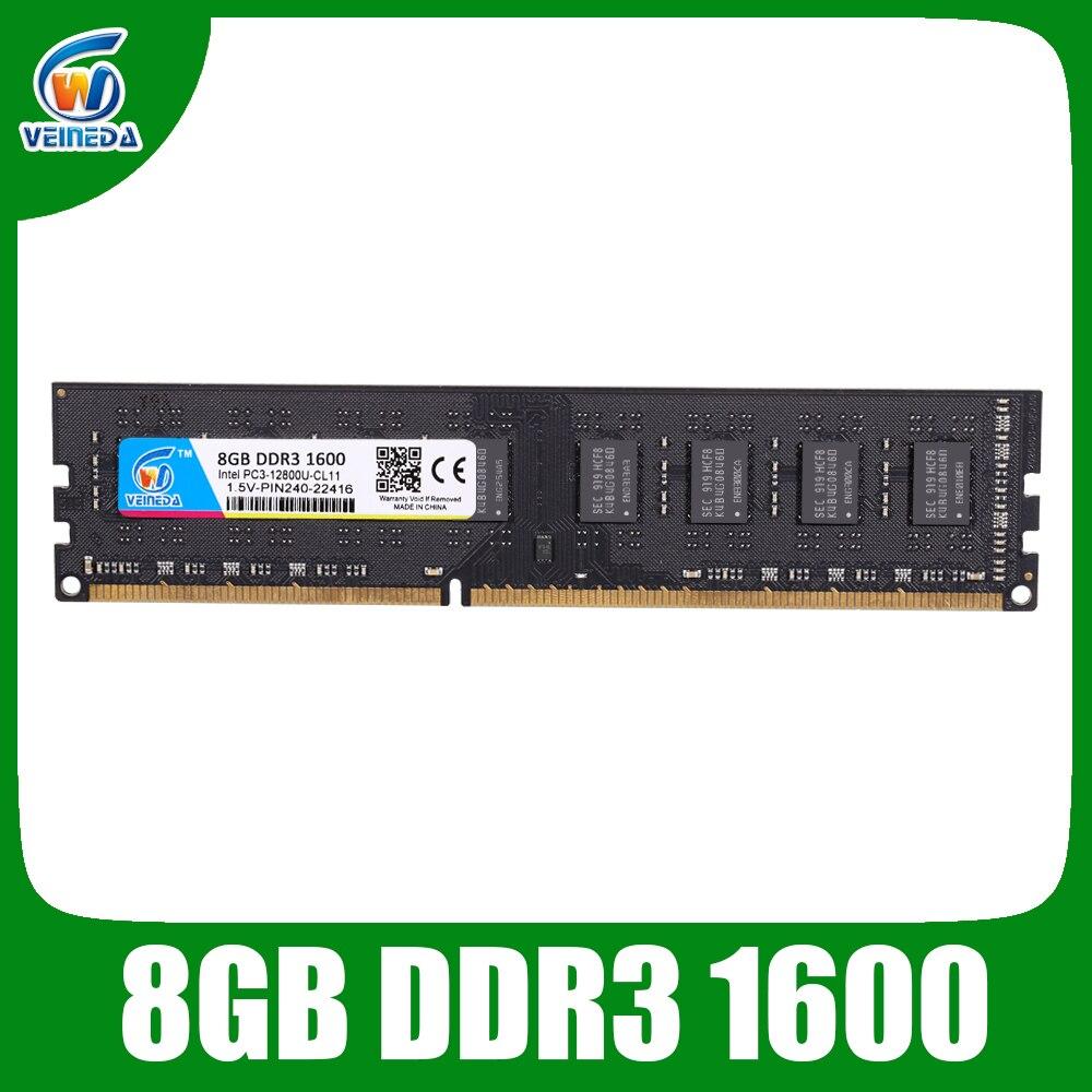 Videocámara memoria de escritorio RAM DDR3 2GB 4GB 8GB PC3 1600Mhz 1333MHz ordenador de escritorio DIMM 1,5 V 240 pines para RAM de escritorio compatible Kembona original chips marca PC de escritorio DDR2 1 GB/2 GB/4 GB 800 MHz/667 MHz/533 MHz DDR 2 DIMM-240-Pins escritorio memoria Ram