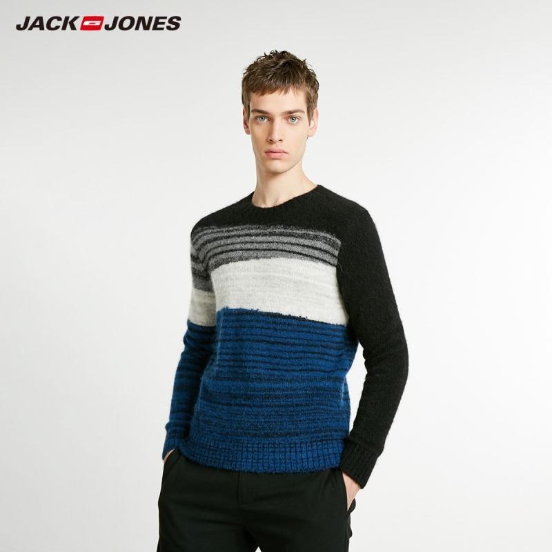 JackJones Men's Wool&alpaca Striped Sweater Pullover Top Style Menswear 218425525