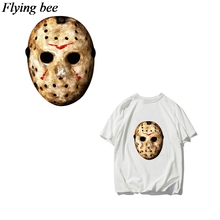 Flyingbee Horrr killer DIY Heat Transfer Patches Cartoon Iron-on Patches For Clothing T-shirt Heat Press Sticker X0664 flyingbee diy heat transfer patches weird thing iron on patches for clothing t shirt decoration heat press appliqued x0657