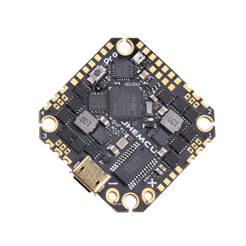 Контроллер полета JHEMCU GHF411AIO Pro F4 OSD встроенный 25A/35A BLheli_S 2-6S 4 в 1 бесщеточный ESC для зубочисток, дронов, FPV Racing