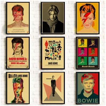 Vintage Poster DAVID-BOWIE Art Printed Retro Poster Home Decor Room Decorative Painting Vintage Wall Picture image