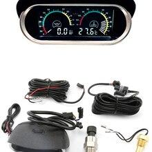 2 функции 12 В/24 В Универсальный Автомобильный Фотодатчик температуры воды, набор измерительных датчиков, индикатор давления масла