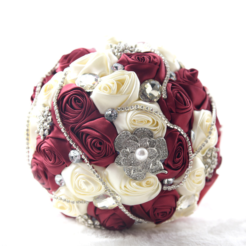 crystal Wedding Bouquet Brooch bouquet wedding accessories Bridesmaid artifical Wedding flowers Bridal Bouquets Holder de noiva