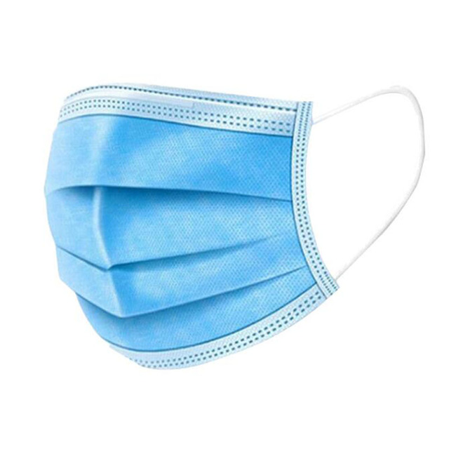 (10 Sets, 20 Sets, 50 Sets, 100 Sets) Gas Masks One-time Protection 3-layer Filter Haze Ear Dust Mask Non-woven Masks 1