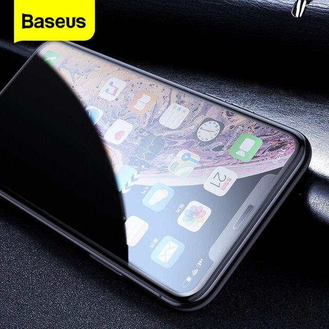 Baseus غطاء حماية شاشة الخصوصية الزجاج المقسى ل آيفون Xs ماكس Xr X S R Xsmax مكافحة يبصر الغبار واقية زجاج واقي فيلم