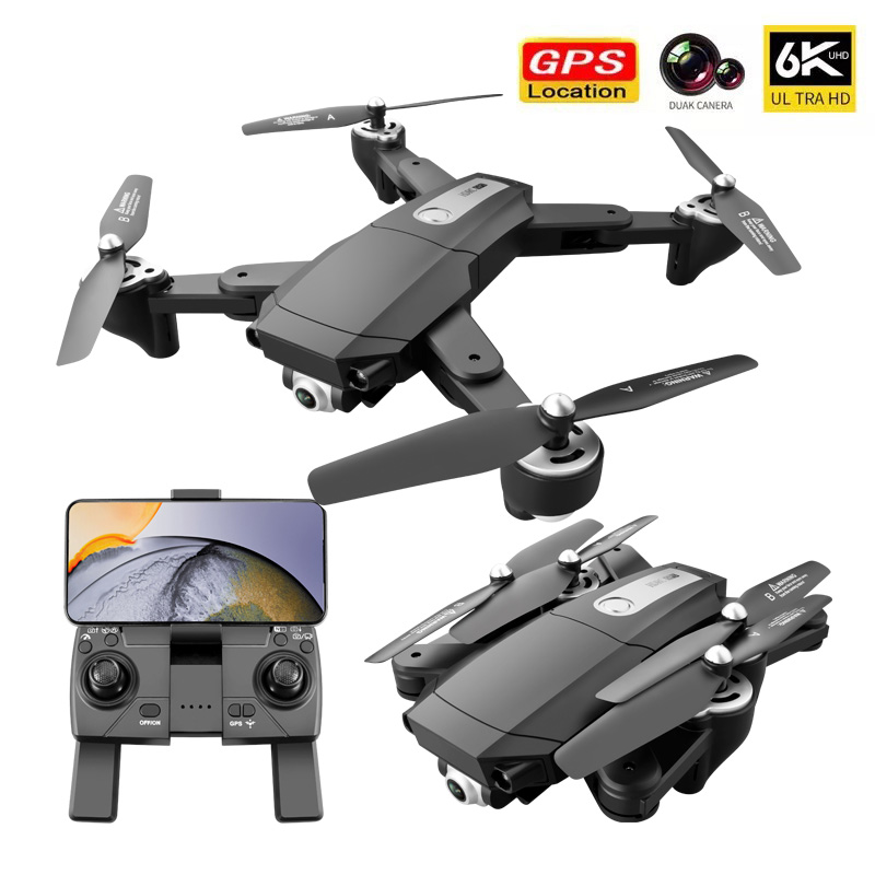 GPS Motor Foldable Drone 4K/6K Aerial Photography Dual Camera HD RC Drones Intelligent Positioning Quadcopter Helicopter Toys