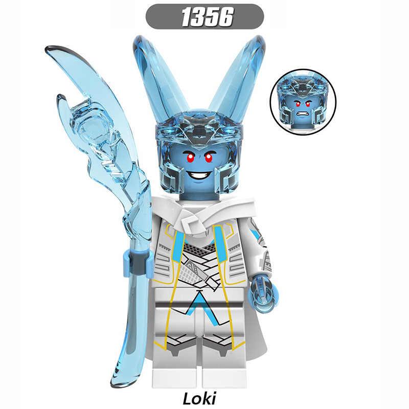 Marvel Avengers Loki Scettro Laufey Hela Odin Spiderman Thor Heimdall Falcon Mysterio Blocchi di Costruzione Regali di Giocattoli Per I Bambini