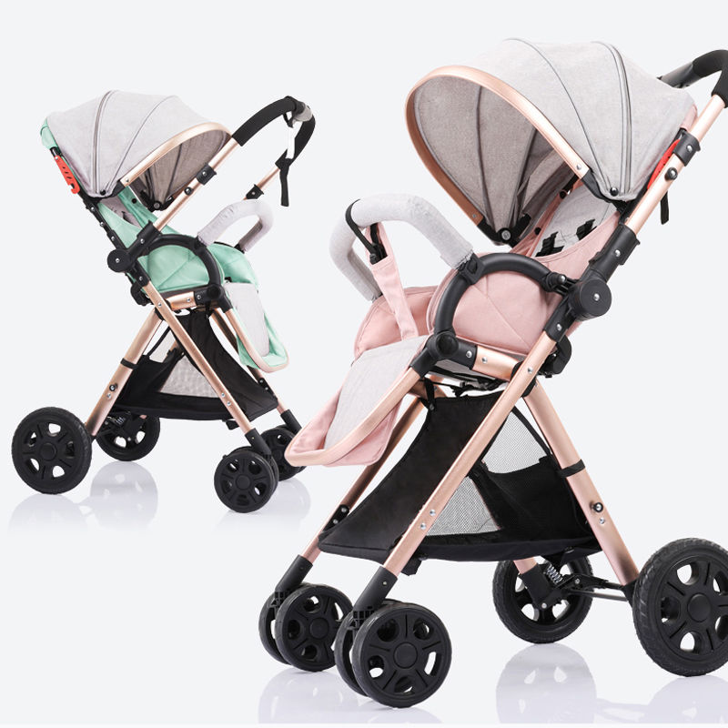 Baby stroller two way baby stroller folding portable trolley umberlla mini lightweight stollers stroller on the plane