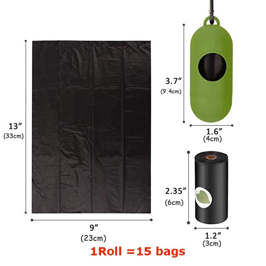 Biodegradable Dog Poop Bag Eco-Friendly Pet Waste Bags with Dispenser Outdoor Clean Pet Poop Bags Dog walking Supplies 4