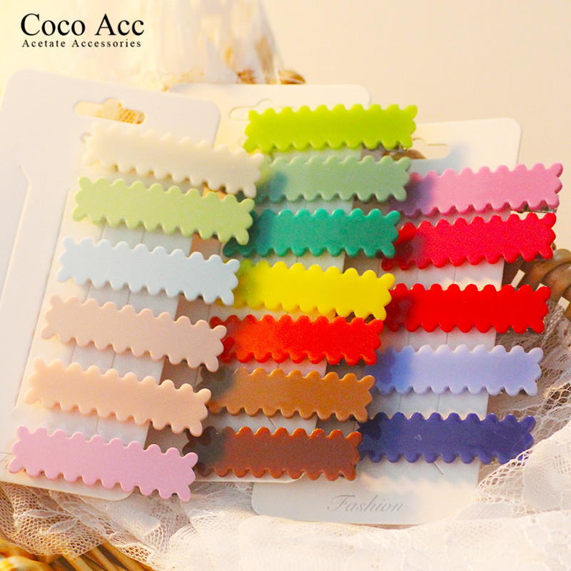 Mi Dairy Brand 18 Colors Simple Korean Version Hair Clips Wholesale Popular Solid Candy Colors Barrettes Cute Hair Accessories