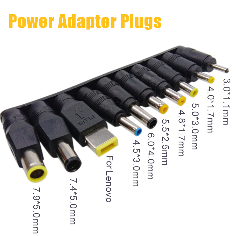 10pcs/set Universal DC Power Supply Adapter Charger Conversion Plugs For Lenovo PC Laptop Notebook-in Computer Cables & Connectors from Computer & Office