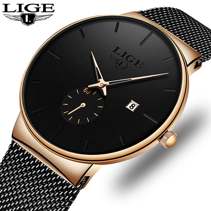 2019 Men's Watches Luxury Brand Man Ultra Thin Watch Gift Male Clock Business Quartz Wristwatch Watch For Men Relogio Masculino
