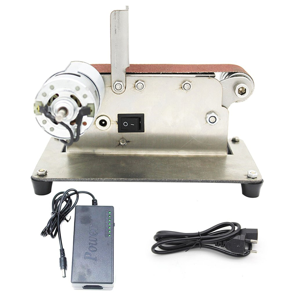 Professional Mini Vertical Belt Machine DIY Polishing Machine Fixed-angle Sharpener Metal Fixed Angle Sharpening Machine EU