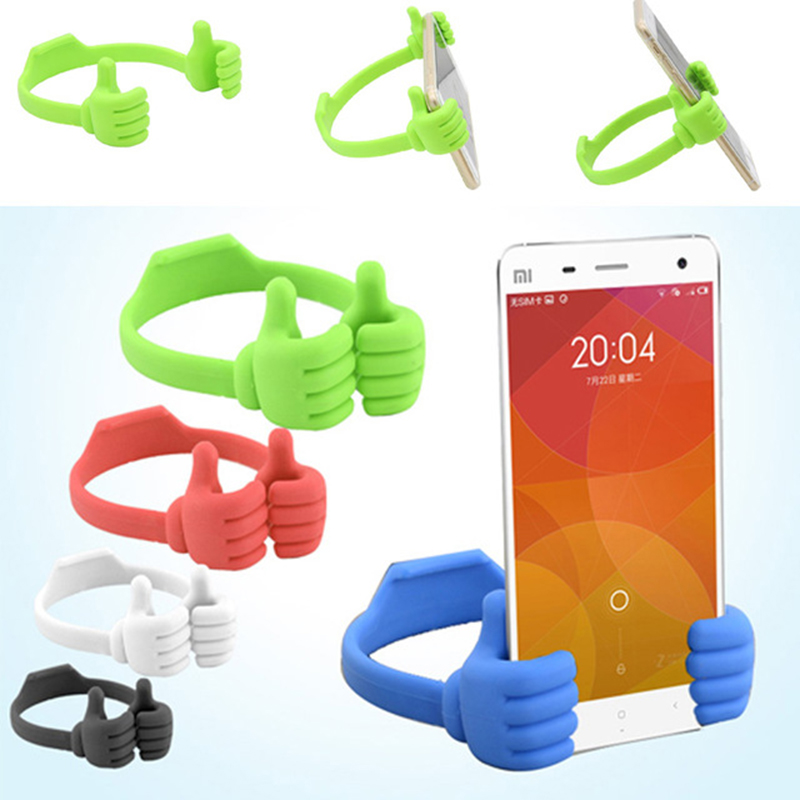 Portable mobile cell phone tablet Thumb holder support stents For Micromax Selfie 2 Note Q4601 3 E460 Yunique 2 Yureka Black