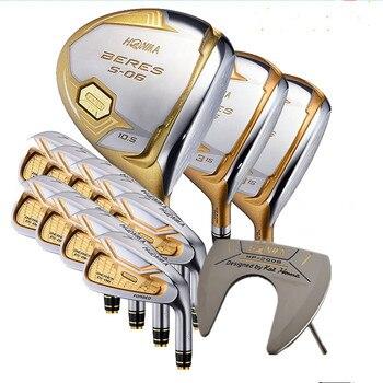 Nuevos palos de Golf HONMA S-06 conjunto de club Compelete de 4 estrellas Driver + 3/5 fairway wood + hierros + putter y mango de Golf de grafito (sin bolsa)