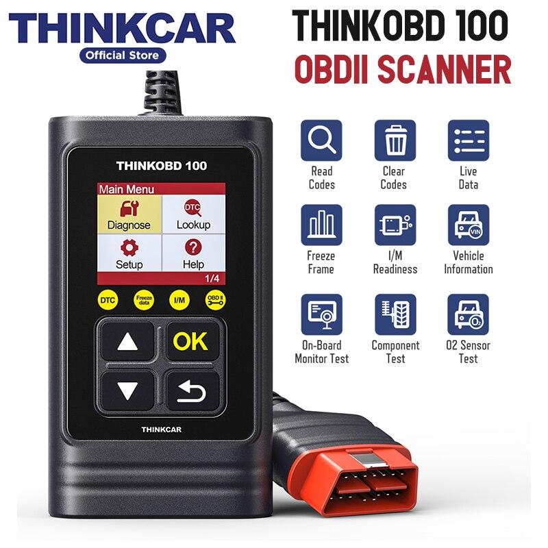 Obd2 scanner de carro THINKCAR 2 THINKOBD 100 ferramenta de diagnóstico obdii obd auto ferramenta de verificação de diagnóstico automotivo elm327 pk cr3001 ad310