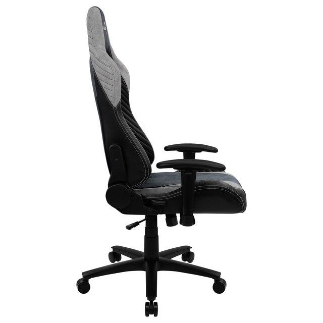 Aerocool baron, cadeira de jogos, aerosuede, respirável, encosto ajustável, azul