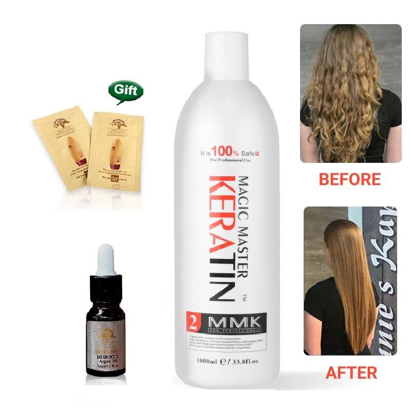 1000ml Magic Master Keratin Treatment Without Formalin Straighten Frizzy Smoothing Shine Hair MMK Keratin
