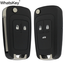 цена на WhatsKey Flip Folding Remote Car Key Shell Case Cover For Vauxhall Opel Insignia Astra J Zafira mokka For Chevrolet Cruze Epica