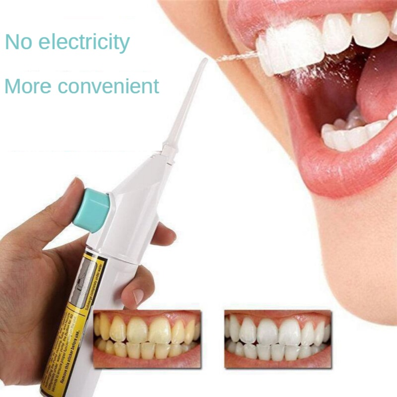 Oral Irrigator Household Portable Manually Teeth Cleaning Tools Water Toothpick Oral Flusher Denture