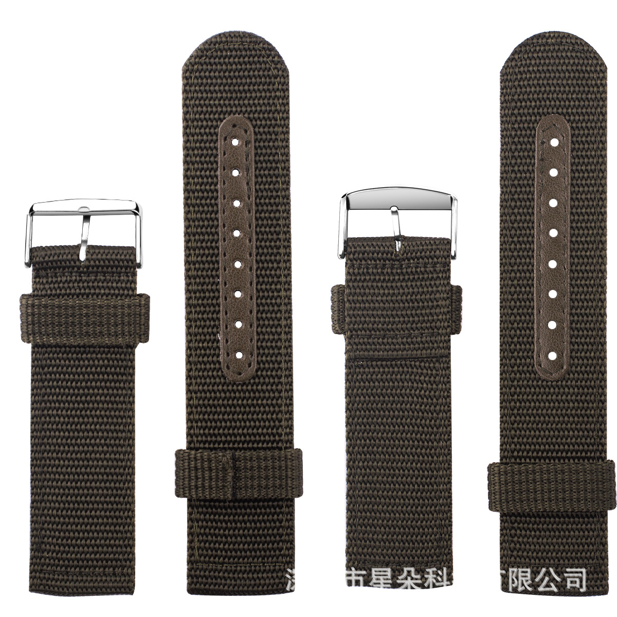 For Apple Nylon Watchband With Connector Sports Canvas Watch Strap Watch Wrist Strap Waterproof Wear-Resistant