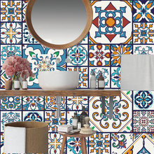 Марокканская Цветная Плитка в полоску настенная наклейка ванная