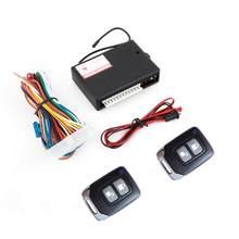 Système universel de verrouillage de porte de voiture 12V, système d'entrée sans clé, Kit Central à distance automatique avec boîtier de commande noir