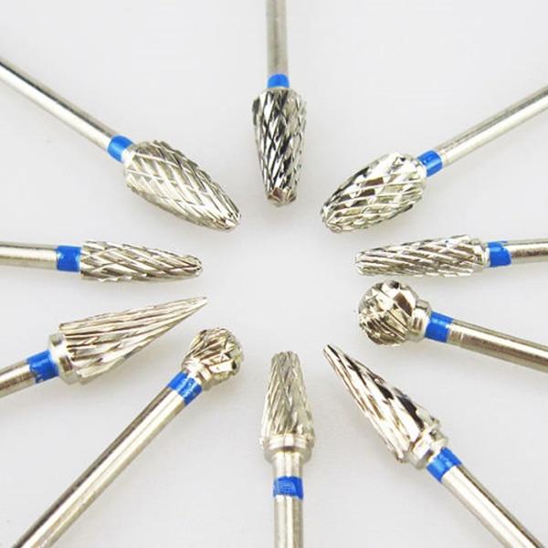 10pcs/box Tungsten Steel Dental Carbide Burs Lab Burrs Tooth Drill Dental Lab Materials(China)