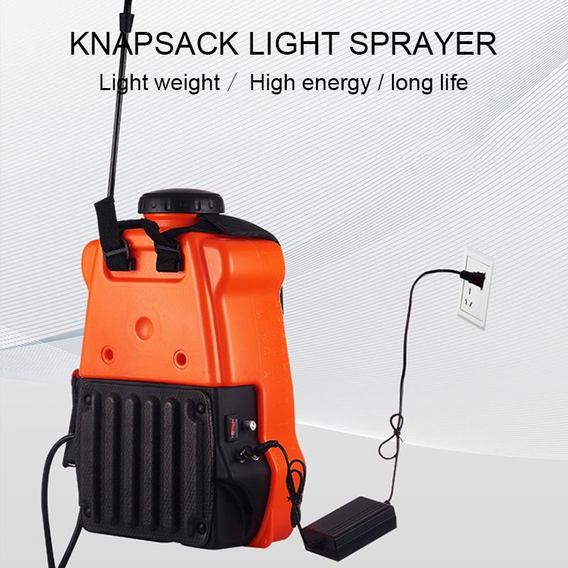 Electric Knapsack Sprayer Nozzle Fight Drugs High Pressure Agricultural 12v Battery Fully Automatic Household