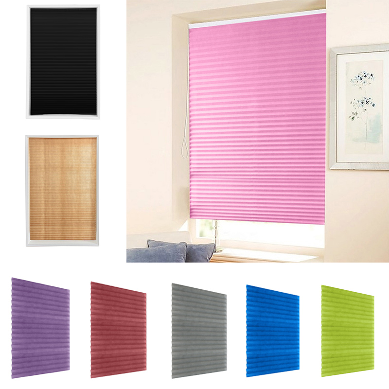 Self Adhesive Pleated Blinds Curtains