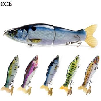 цена CCLTBA Wobblers Fishing Bait 14cm 33g Glide Jointed Bait Artificial Rubber Tail Shad Swimbait Fishing Tackle онлайн в 2017 году