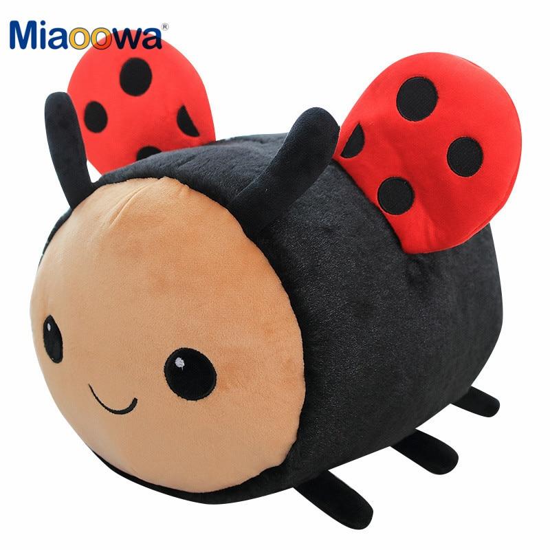 20cm Lovely Bee&Ladybird Plush Toys For Children Kids Birthday Gift Cute Kawaii Animal Doll Sleeping Pillow Soft Baby Doll