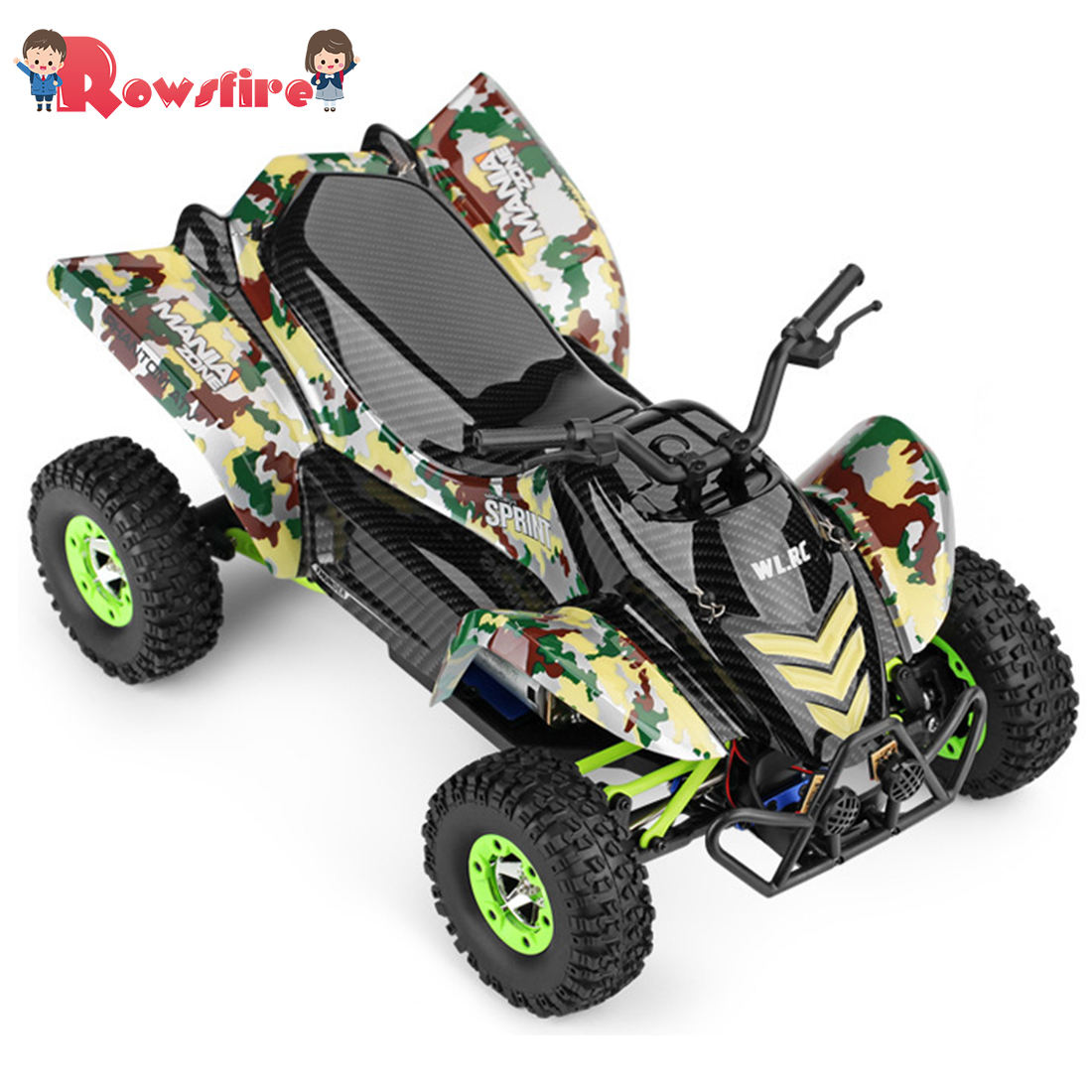 Rowsfire Wltoys Rc Cars 2.4g 4wd 50km/h Electric Brushed Off-road Motorcycle Led Lights Rtr 1 Battery Remote Control Toys Hot