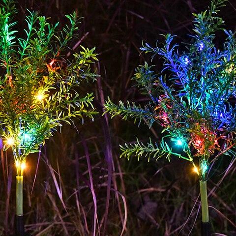 2 pack de energia solar luzes decorativas estacas do jardim arvores decoracao da festa de