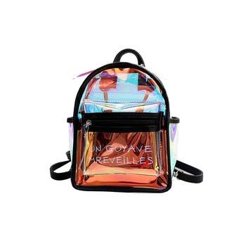 2020 Hot Travel Bags Laser Backpack Women School for Teenage Girls Transparent Waterproof