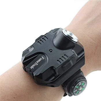 LED Wrist Watch Light Portable Torch Flashlight Tactical Running Wrist Light USB Rechargeable Flashlight Wrist Lighting Torch portable xpe led 1000lm display rechargeable wrist watch flashlight torch waterproof